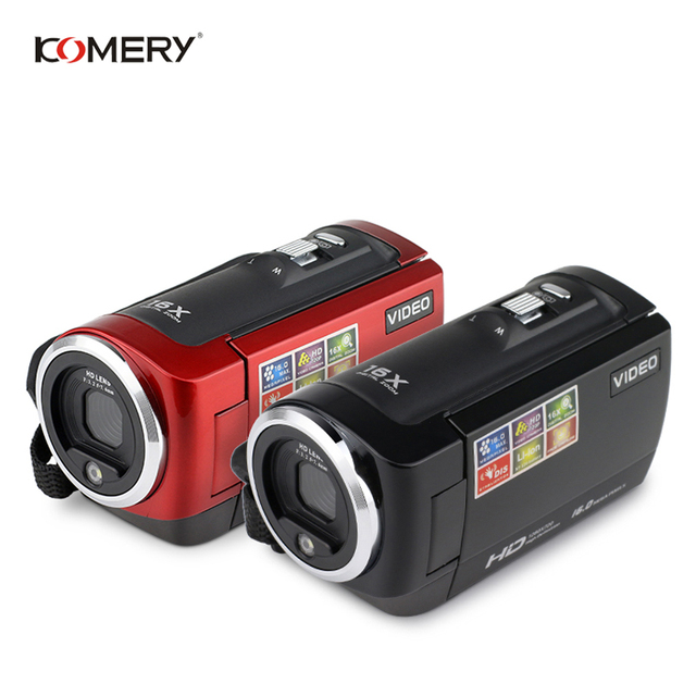 KOMERY HD Video Camera 2.7 Inch LCD screen 16x Zoom Digital Anti-shake Mini Camcorder camara fotografica digital professional 4