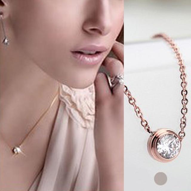 fashion Small fresh temperament single imitation rose gold color