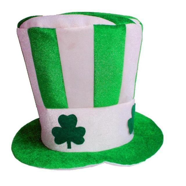 New Halloween Unisex Irish Shamrock Hat Women Men Fedoras Caps Magic Dance  Stage Performance Headwear Party Supplies Party Hat 3 c248ceda6a