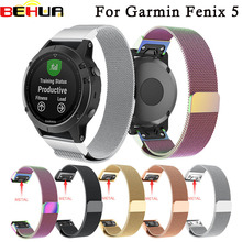 Quick Release Watch Band For Garmin Fenix 5 GPS Strap Stainless Steel Replacement Wrist Band Strap For Fenix5 Watchband Easyfit цена