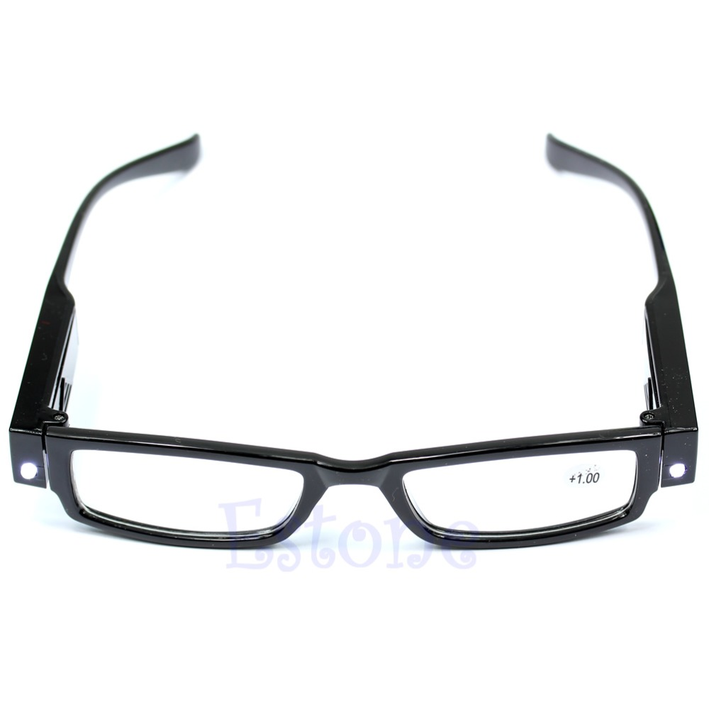 Multi Strength LED Light UP <font><b>Reading</b></font> <font><b>Glasses</b></font> Eyeglass Spectacle Diopter Magnifier image