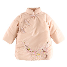 Infant Baby Girls Down Parkas 2018 Thick Winter Cotton Down Jacket Peach Blossom Girl Down Coat Children Outwear Clothes 5jk027