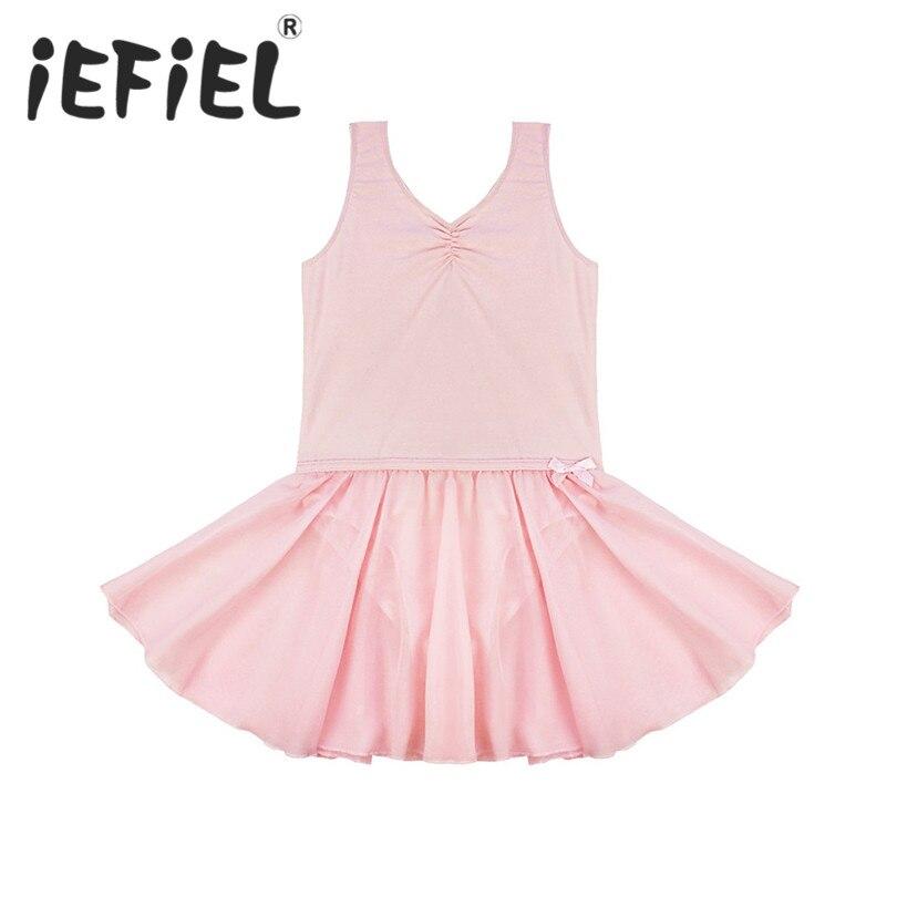 iEFiEL Sleeveless Kids Girls Ballet Tutu Dress Children Gymnastics Dancewear Clothes Leotard Dancing Costume Ballet Dresses