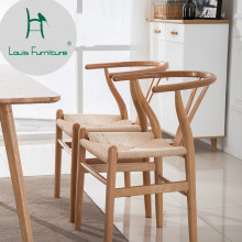 Луи мода обеденный стул нордический Досуг твердой древесины стул