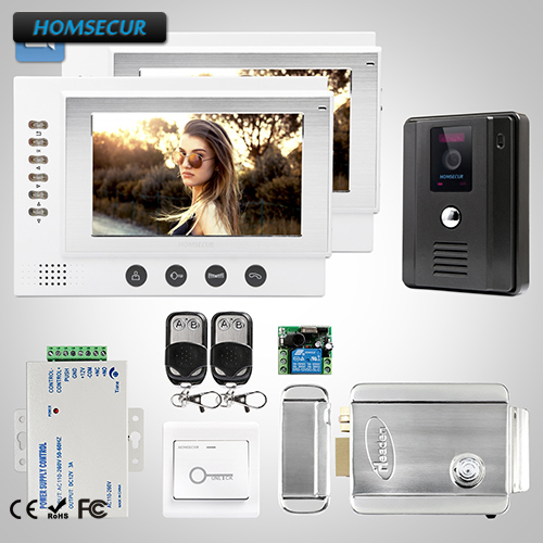 HOMSECUR 7 Hands-free Video Door Entry Security Intercom+Dual-way Intercom 1C2M: TC011-B Camera(Black)+ TM701R-W Monitor(White)HOMSECUR 7 Hands-free Video Door Entry Security Intercom+Dual-way Intercom 1C2M: TC011-B Camera(Black)+ TM701R-W Monitor(White)