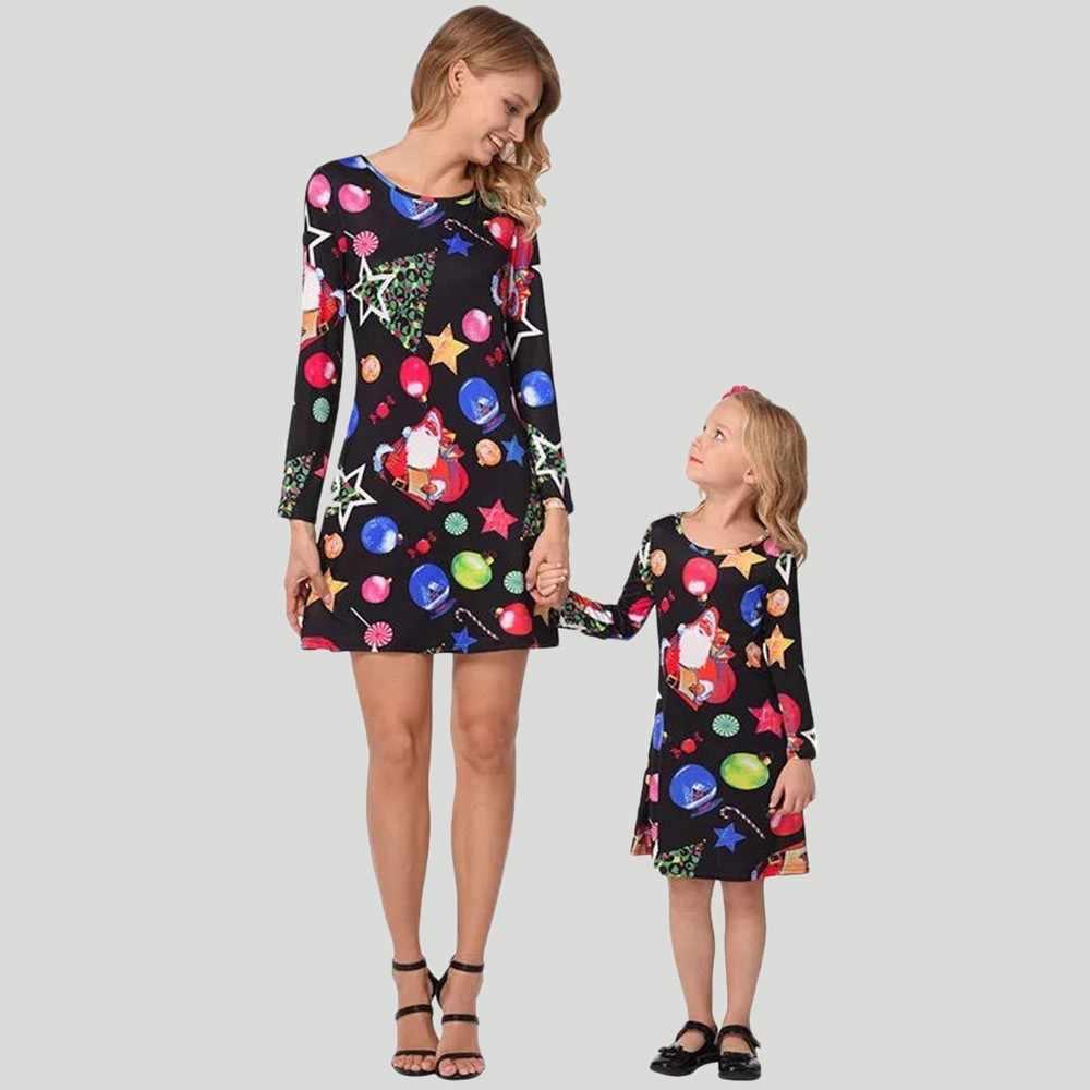 b53609bb767 2018 рождественское платье с длинными рукавами для маленьких девочек с  рисунком из мультфильма «карамельные звезды