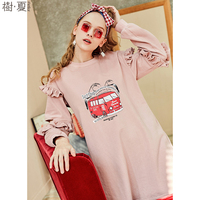 Artka 2018 Spring Female 100 Cotton Pullovers Dress O Neck Hollow Full Butterfly Sleeve Sweet Pink