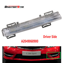 Left DRL Daytime Running Lamp Foglight Car Fog Light Lamp For Mercedes-Benz C-Class W204 S204 W212 R172 2009-2014 2049068900 стоимость