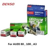 4pieces/set DENSO Car Spark Plug For AUDI 80 100 A3 Iridium Platinum IK20TT
