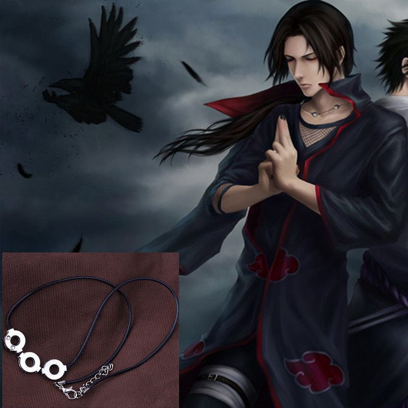 Free delivery Anime Naruto Uchiha Itachi Cosplay Pendant Necklace Personality Fashion Anime Accessories souvenirs Men Women Gift