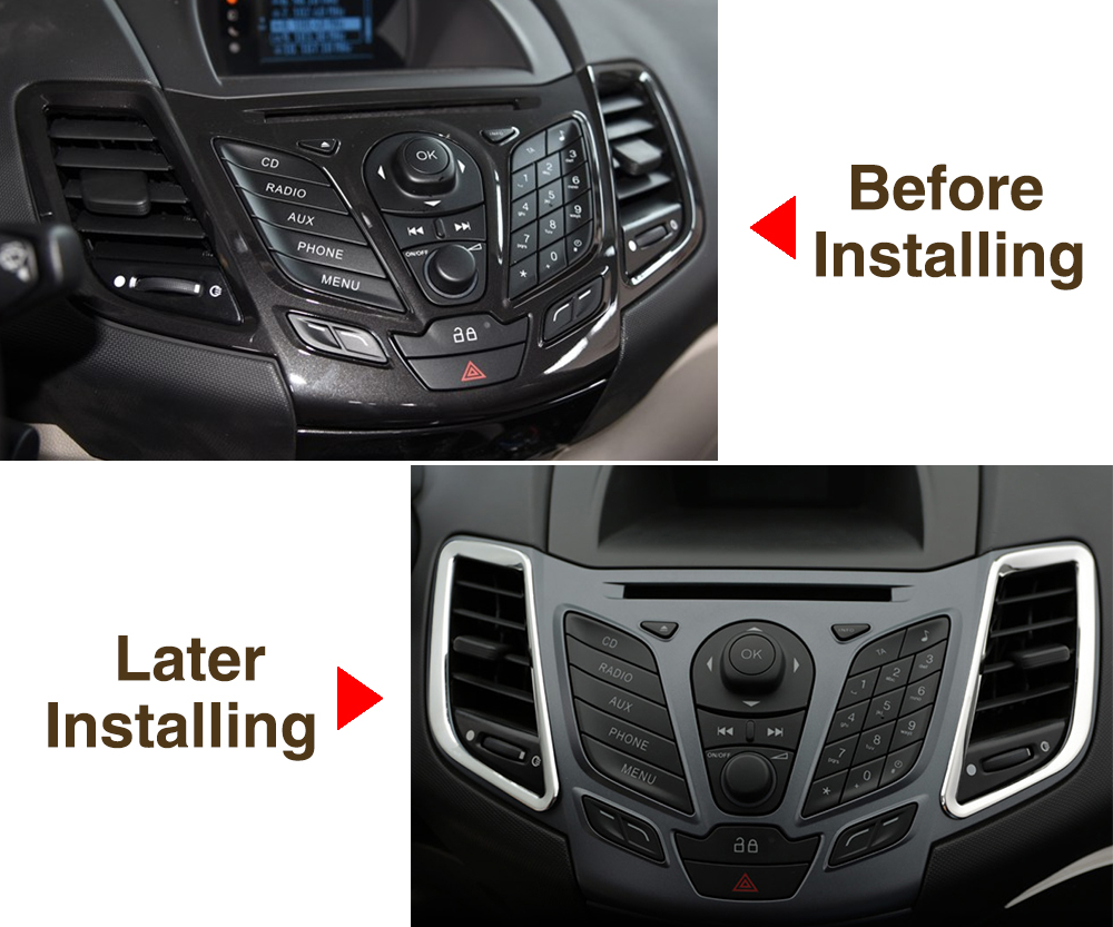 Car Accessories, stainless steel trim accessories interior outlet ...