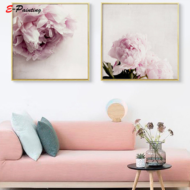 Modern Wall Painting White Flower Hydrangea Wall Art Poster Photography Spring Floral Canvas Print Living Room Home Decor