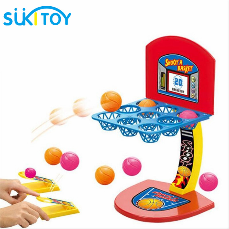 SUKIToy Kid's Desktop Game Mini Basketball Shooting Game Educational toys multicolour marbles game with children creative PL010 dayan gem vi cube speed puzzle magic cubes educational game toys gift for children kids grownups