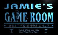 X0233 Tm Jamie S VIP Lounge Game Room Custom Personalized Name Neon Sign Wholesale Dropshipping