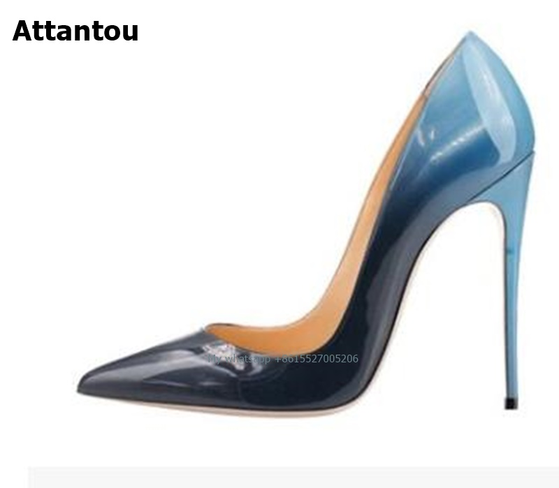 2018 Hot sale spring fashion black Women High Heels slip-on sexy pumps pointed toe Female Party Dress Shoes stiletto newest flock blade heels shoes 2018 pointed toe slip on women platform pumps sexy metal heels wedding party dress shoes