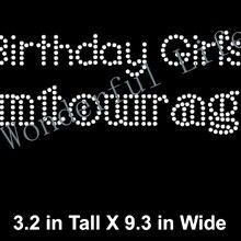 Free shipping and free gift Rhinestone Bling Iron-on Transfer Birthday Girl  hot fix rhinestones 24453547adb1
