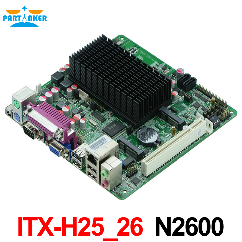 все цены на Mini itx motherboard industrial embedded motherboard ITX_H25_26 Intel Atom N2600/1.66G dual core CPU онлайн