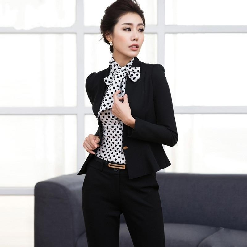 Business Pants Suits Women Interview
