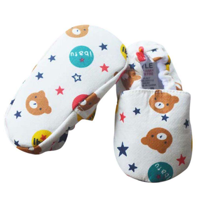 New Cute Cartoon Baby Toddler Shoes Print Cotton First Walkers Newborn Shallow Girls First Walkers 0-12M