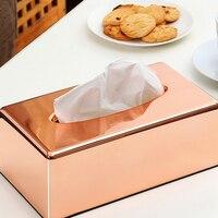 תיבת אחסון רקמה אלגנטיים רויאל גולד/סלון מגבת אספקת מיכל תיבת מפית מתלה נייר