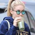 GiGi Hadid 2017 Women Retro LOUIS Style Sunglasses Kendall Jenner Style Green Lens Handcrafted Acetate Frames 100% UVA/UVB UV400