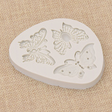 Butterfly Silicone Mold Polymer Clay Tools DIY Wall Panel Cr
