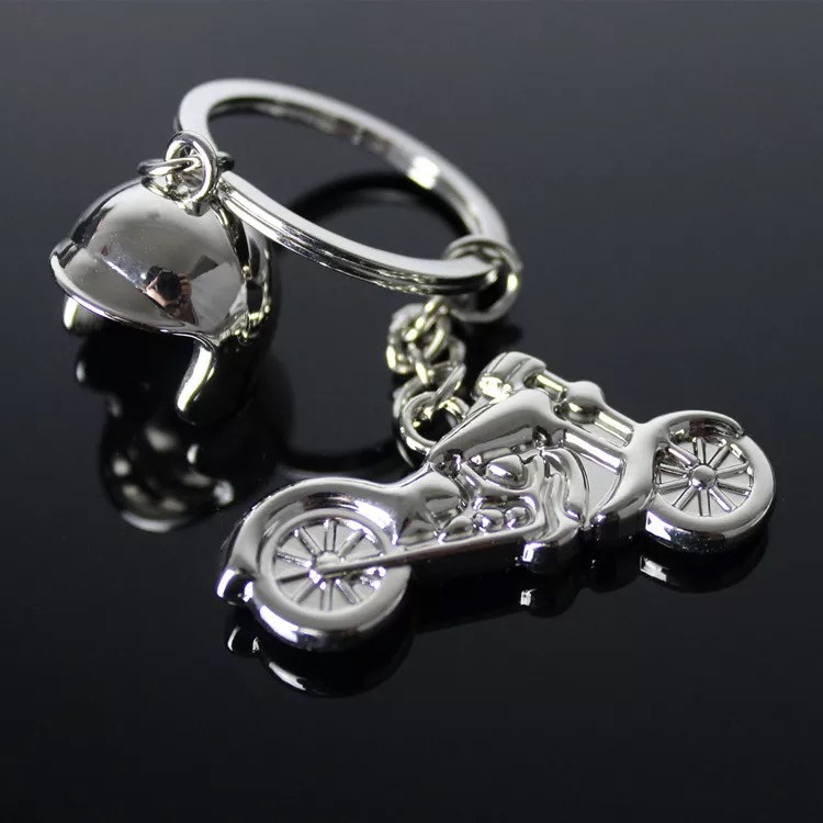 FREE SHIPPING BY DHL 100pcs lot New Hot Helmet Motorcycle Keychains Metal Mini Motorcycle Keyrings for