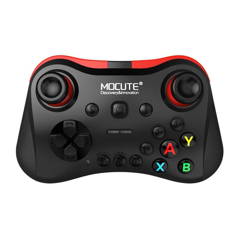 Mocute 056 Bluetooth геймпад мобильный телефон джойстик беспроводной джойстик VR контроллер для PUBG мобильный iso android tv BOX PC Fortnite - Цвет: Черный