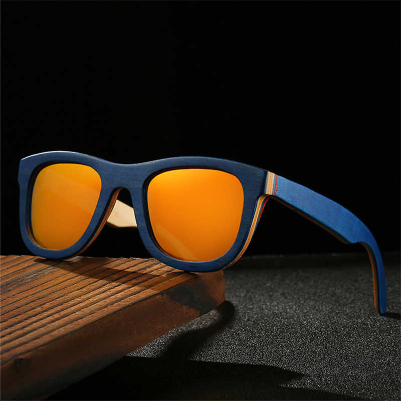 c08f88042b ... RILIXES 100% Bamboo Wood Sunglasses Polarized Handmade Bamboo Mens  Sunglass Sun glasses Men Gafas Oculos ...