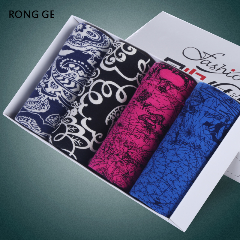 rongge2017 new arrival mens underwear boxers HOT SEAL men solid L XL XXL XXXL BOXER SHORTS FOR MEN UNDERWEAR not gift boxes k03