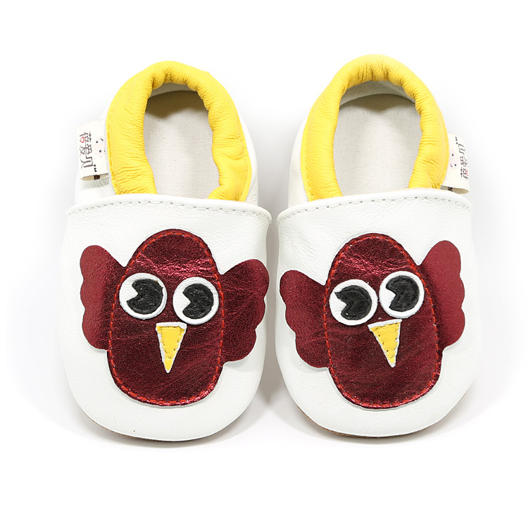 2018 Handmade Suede Genuine Leather Owl Cartoon Baby Moccasins Soft Sole toddler Baby Girls Boys Shoes Newborn First Walker