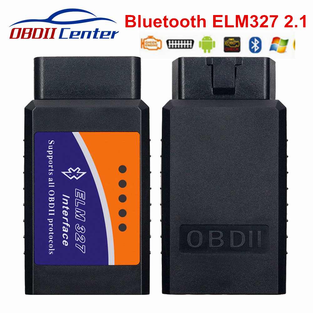 Classical ELM 327 Bluetooth Adapter 2.1 ELM327 Hardware V2.1 OBD2 Scanner OBD 2 Diagnostic Interface Tool For Multi-brand Cars