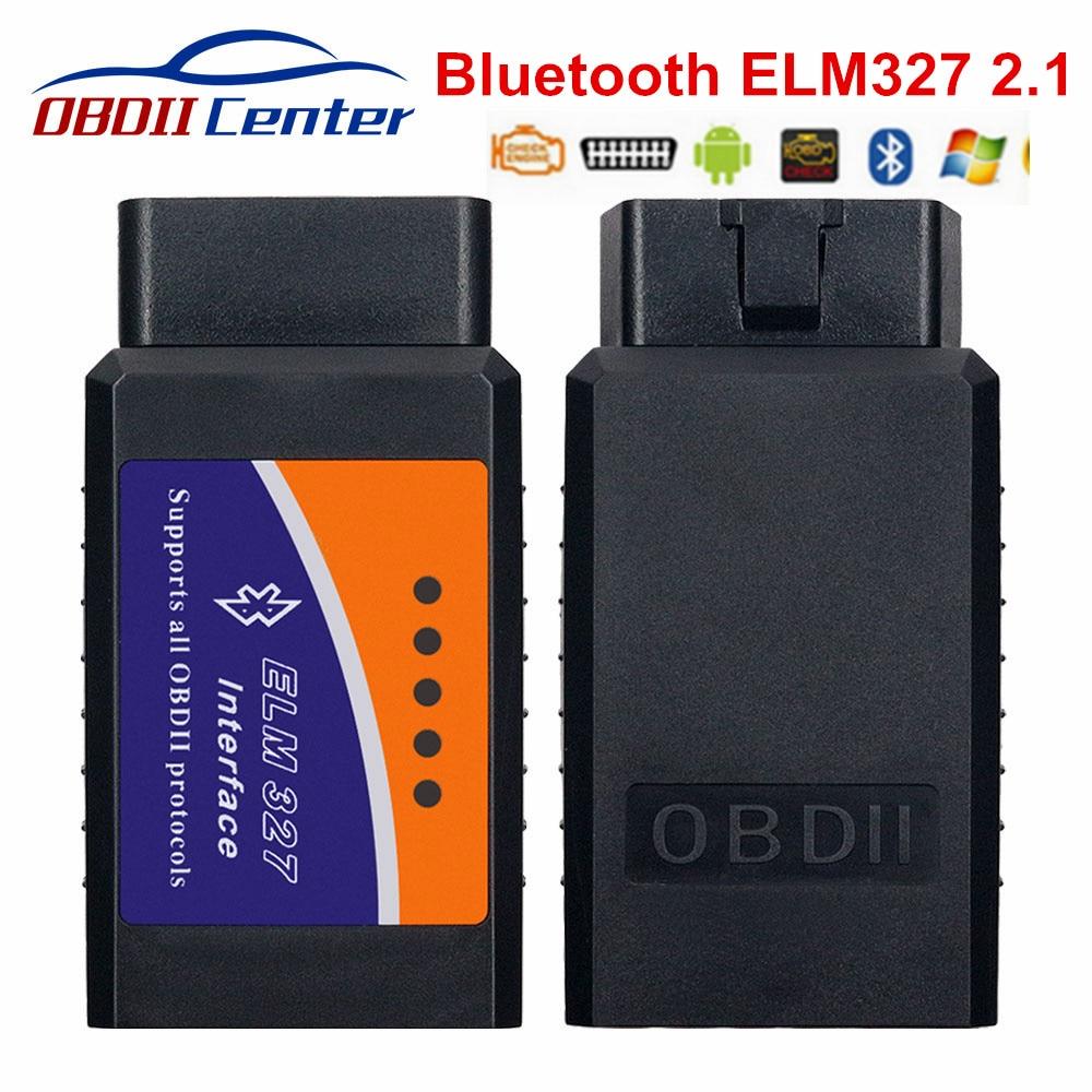 Klassischen ULME 327 Bluetooth Adapter 2,1 ELM327 Hardware V2.1 OBD2 Scanner OBD 2 Diagnose Interface Tool Für Multi-marke autos