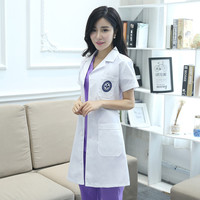 2017 Autumn Work Clothes Thai Massage Uniforms Purple Nurse Uniform Sets High Quality Uniforms Spa Clothing
