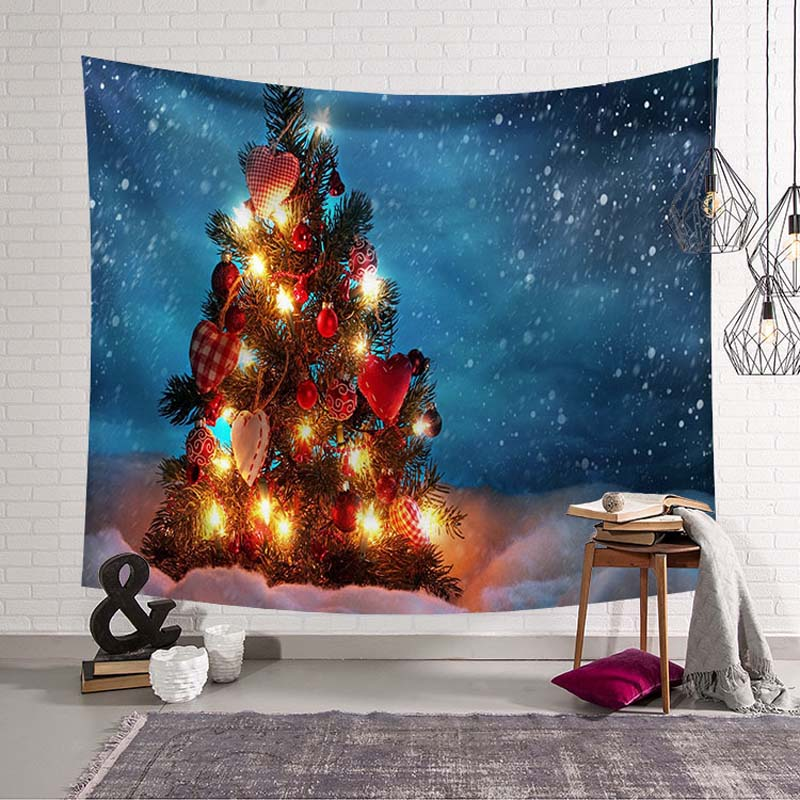 Merry Christmas Decoration Blanket Art Wall Hanging Tapestry Balloon XMAS Ornamental Wall Cover Party Tablecloth Large Bed Sheet in Tapestry from Home Garden