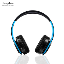 Deepdee беспроводные наушники bluetooth большой громкой связи с микрофоном Спорт/Музыка бас игровая гарнитура для компьютера для мобильника