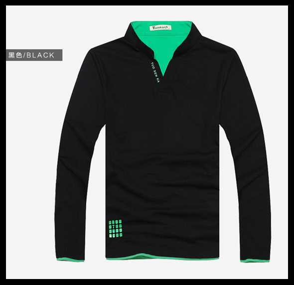 2014 Popular Tsenka Official Original Full Sleeve Men POLO Shirt,Turn-down Collar men Band Autumn Clothes Slim Fit
