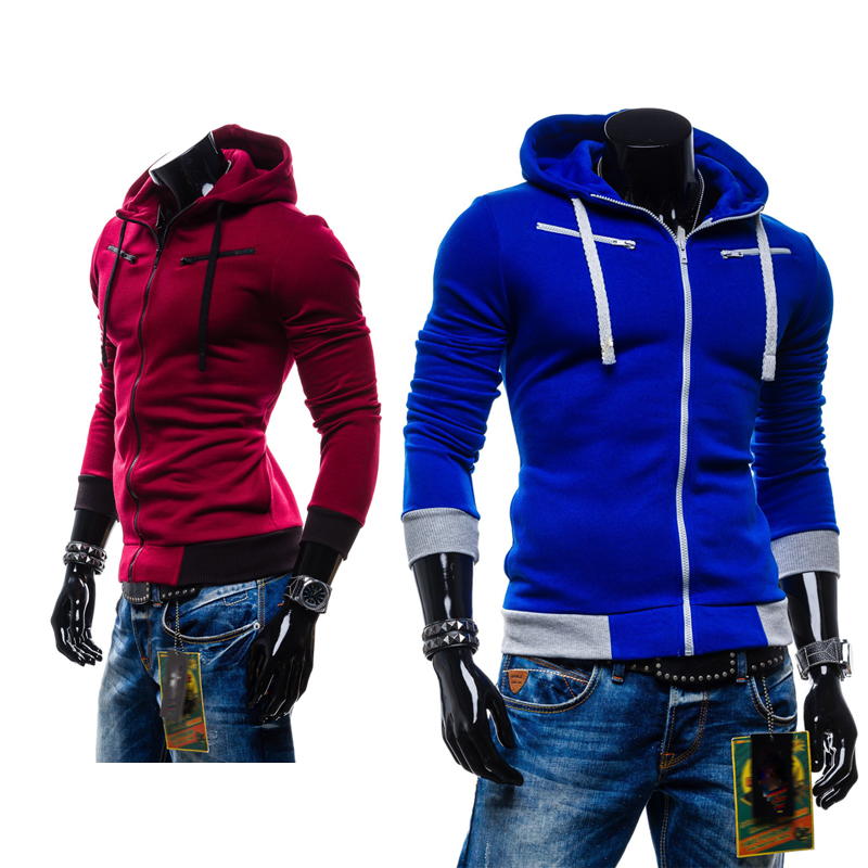 Best price and good quality Men s casual hooded Casual Hoodie coat man cardigan slim Sweatshirts