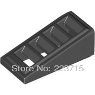 Roof Tile W Lattice 1X2X2 3 50pcs DIY enlighten block bricks Compatible With Other Assembles