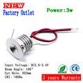 15pcs Mini led downlight 3W cabinet lamp  100D hole 23mm input current 3-3.4V/300-350mA