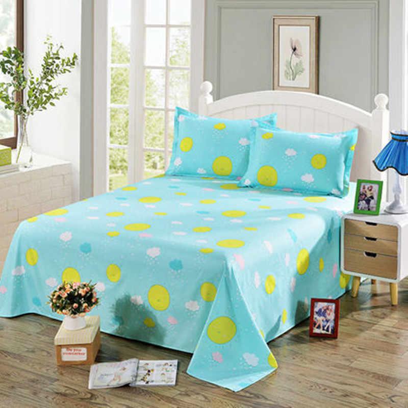 Цельнокроеное платье голубой цвет плоской подошве луны и звезд гладкая простынь для одного двуспальная кровать детская взрослых простыни только XF347-12
