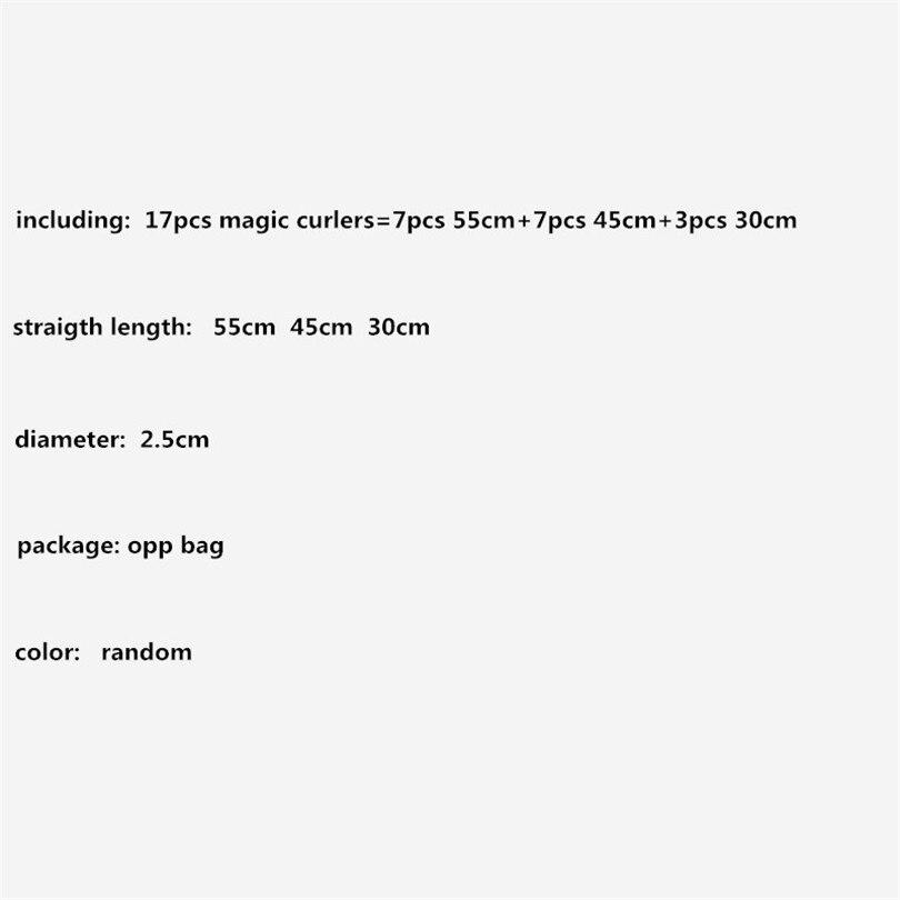 17Pcs / Set Аралас 55cm 45cm 30cm Magic No Heat Long Ұзын - Шаш күтімі және сәндеу - фото 3
