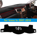 Dashmats car-styling accesorios cubierta del tablero de instrumentos para lexus lx470 lx570 lx460 j200 2007 2008 2009 2010 2011 2012 2013 2015 2016