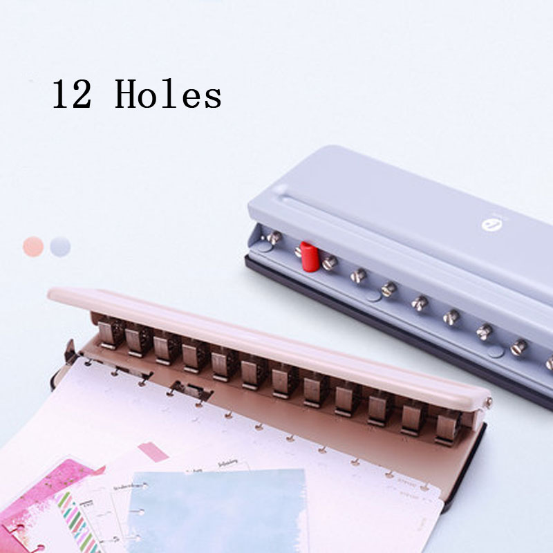 T Mushroom Hole Round Hole Multi-function Punching Machine Disc Dinding Loose-Leaf Puncher Adjustable Punch Book Perfurador De P
