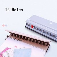 T Mushroom Hole Round Hole Multi function Punching Machine Disc Dinding Loose Leaf Puncher Adjustable Punch book Perfurador de P