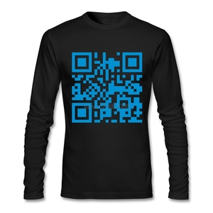 Дизайнерская футболка из натурального хлопка Hombre qr code republica de guatemala, футболка с длинными рукавами для мужчин, дизайнерская облегающая футбол...