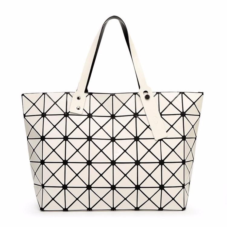 901acec854ce Women Bag Ladies Geometric Sequins Mirror Saser Plain Folding Handbag Mujer  Mosaic Shoulder Bags Top Handle Tote. 1 3 2 4 5 9 13 14 ...