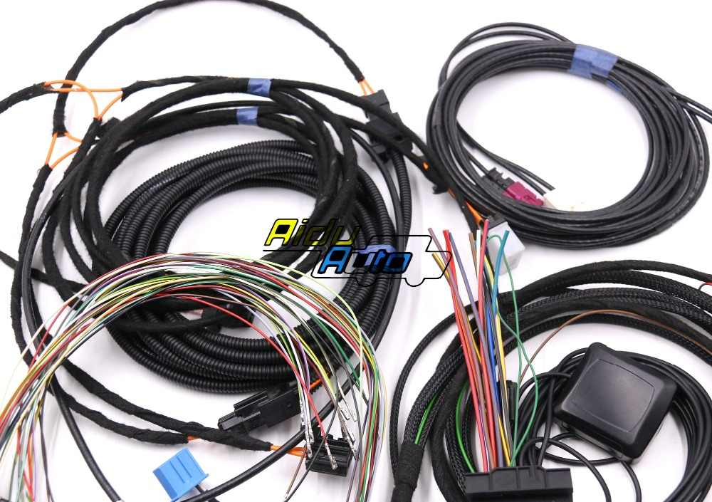 For Audi A4 B8 A5 B8 Q5 8R Update UPGRADE install MMI System Wire cable  Harness & GPS ANTENNA & Mic