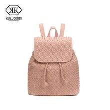 Kuluosidi большой Ёмкость Черная Женская сумка школьные сумки для девочек рюкзак женщин Mochila Feminina женская кожаная сумочка