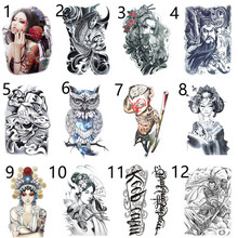 Small pure and fresh ankle Waterproof tattoo paste men women Ear hind neck hearts lace poker stickers